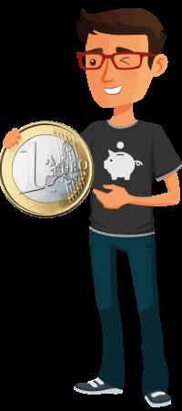 Personnage illustrant l'offre d'isolation des combles à 1 euro